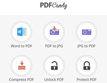 PDF Candy, convertidor de PDF a otros formatos