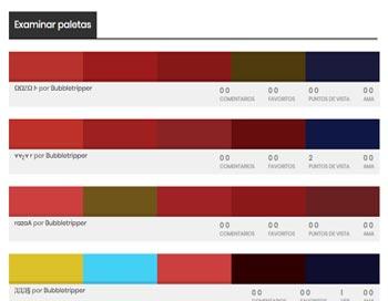 Combinaciones de colores con Colour lovers